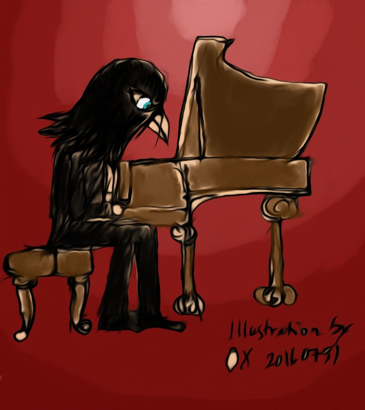 painting raven piano 20160730