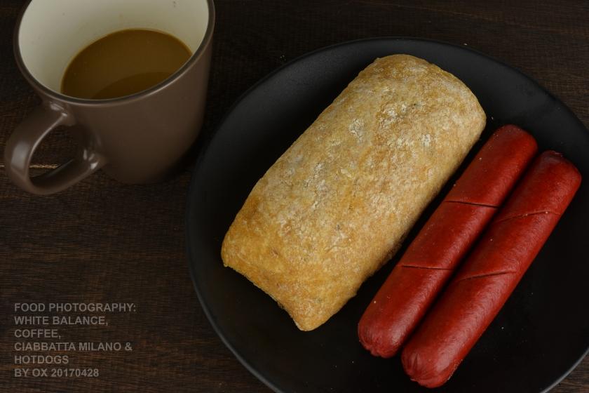 food ph bead ciabatta hotdog