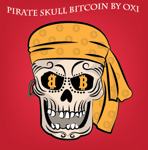 pirate skull bitcoin
