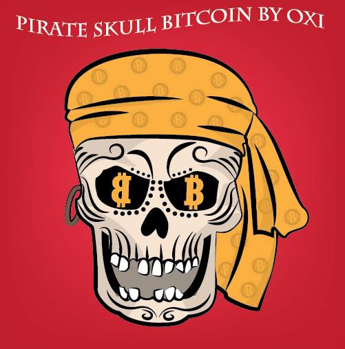 pirate skull bitcoin